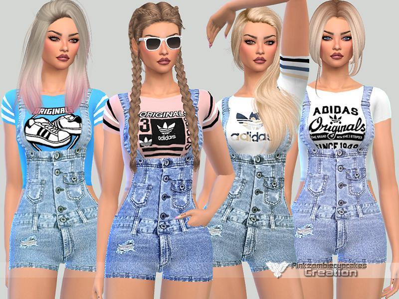 Summer Adidas Short Dungarees