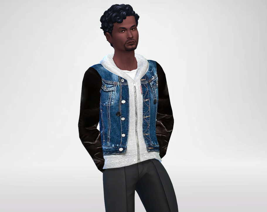 The Icon Denim And Leather Jacket