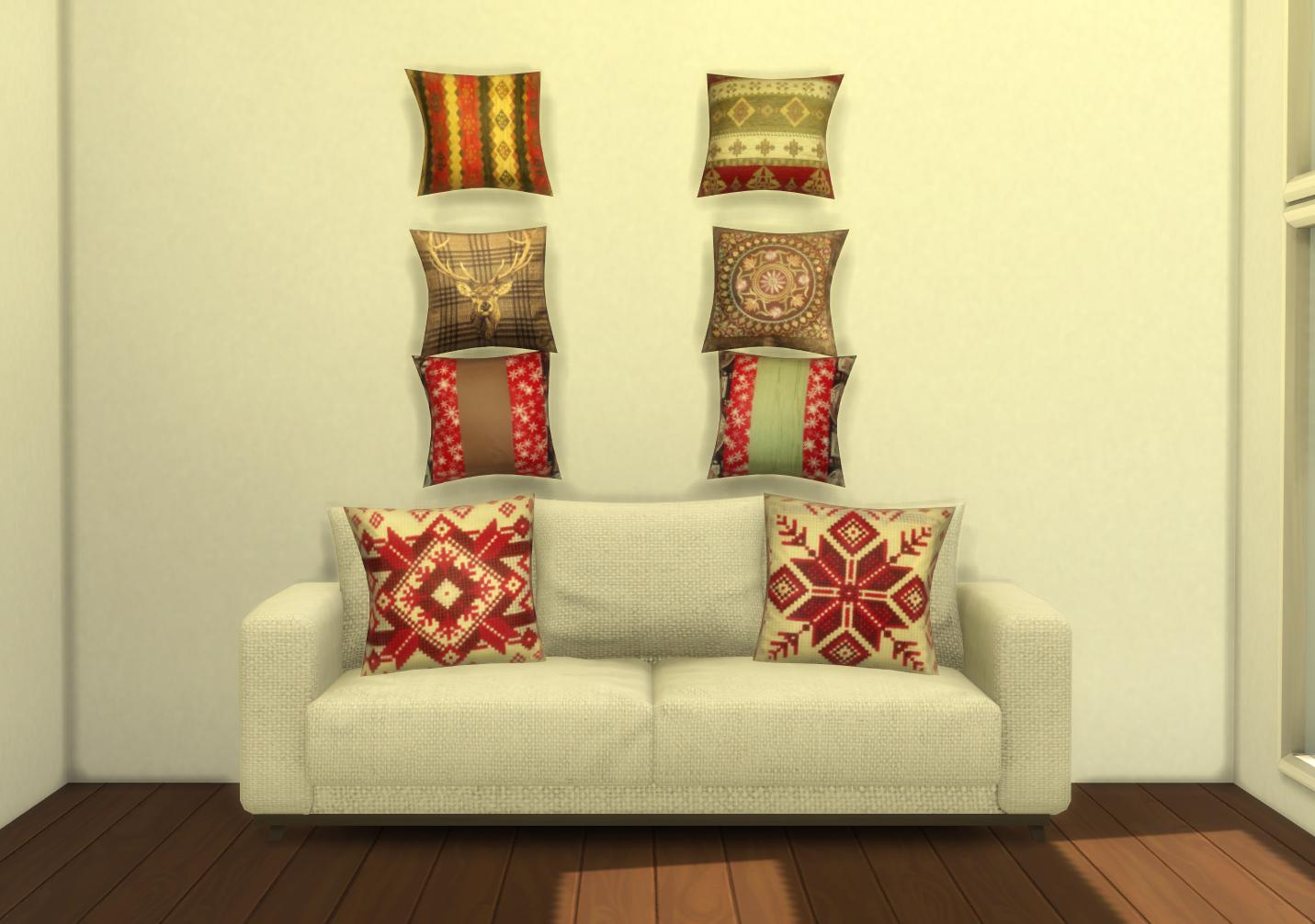 Two sofa pillows