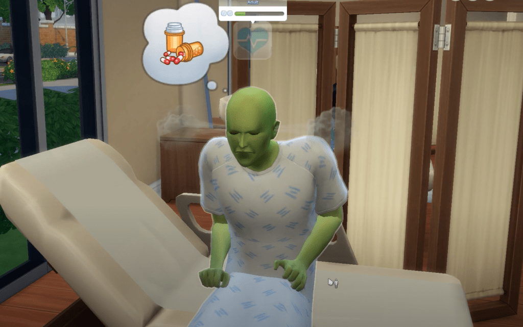 sims 4 doctor career bloaty head