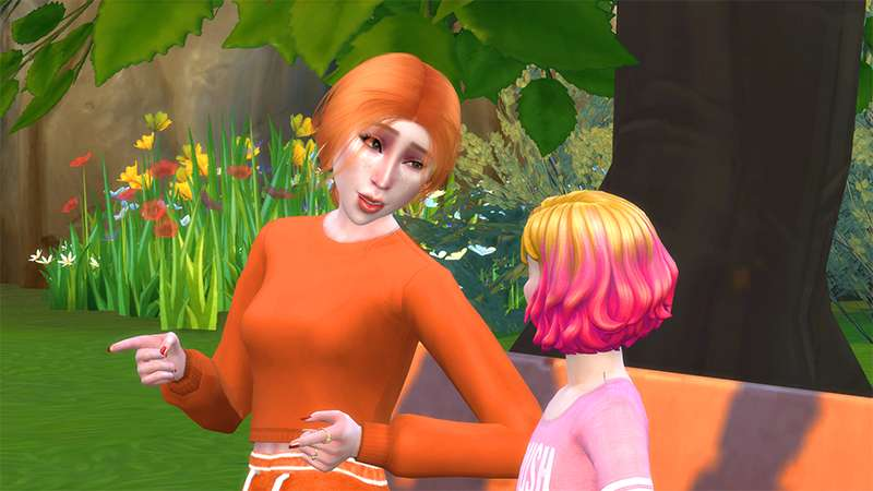Gameplay screenshot of the sims 4 not so berry challenge