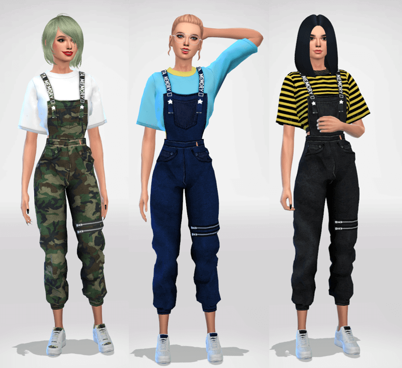 Sims 4 Cute Overalls