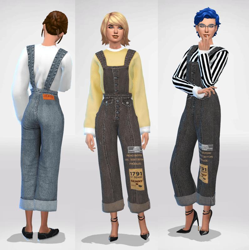 Sims 4 Denim Overalls