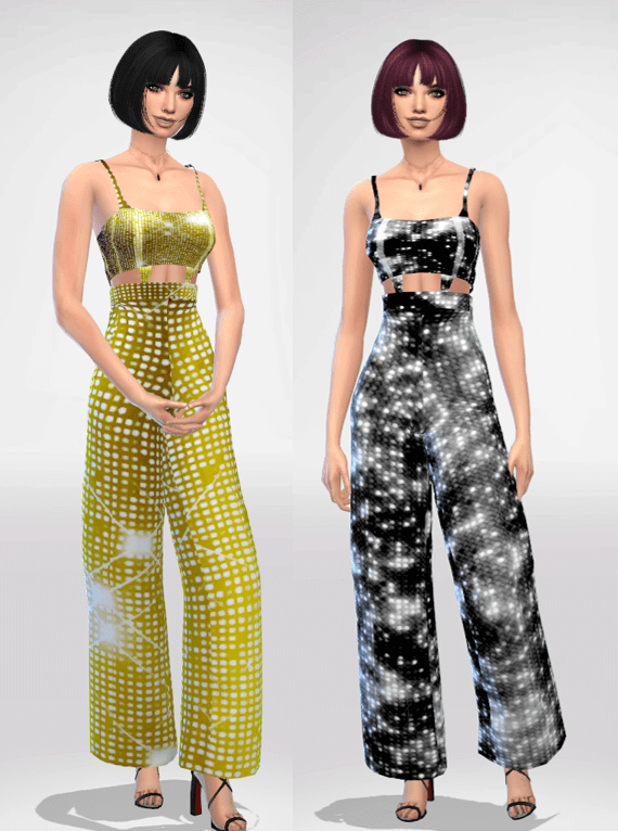 Sims 4 Glow Overalls