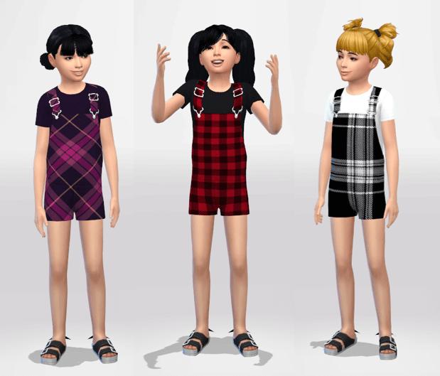 Sims 4 Children Overalls