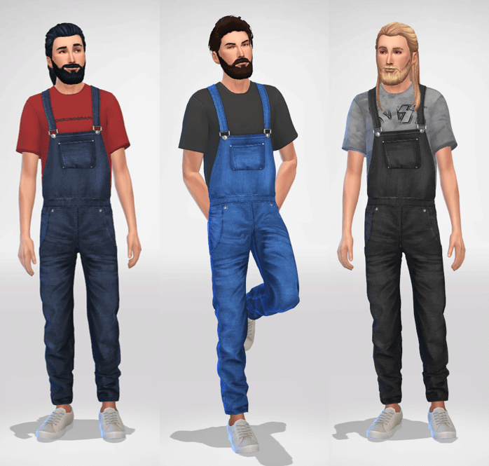 Sims 4 Male Overalls