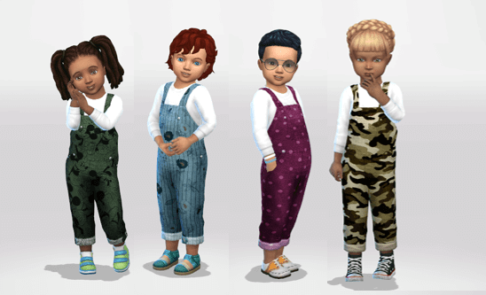 Sims 4 Toddler Overalls