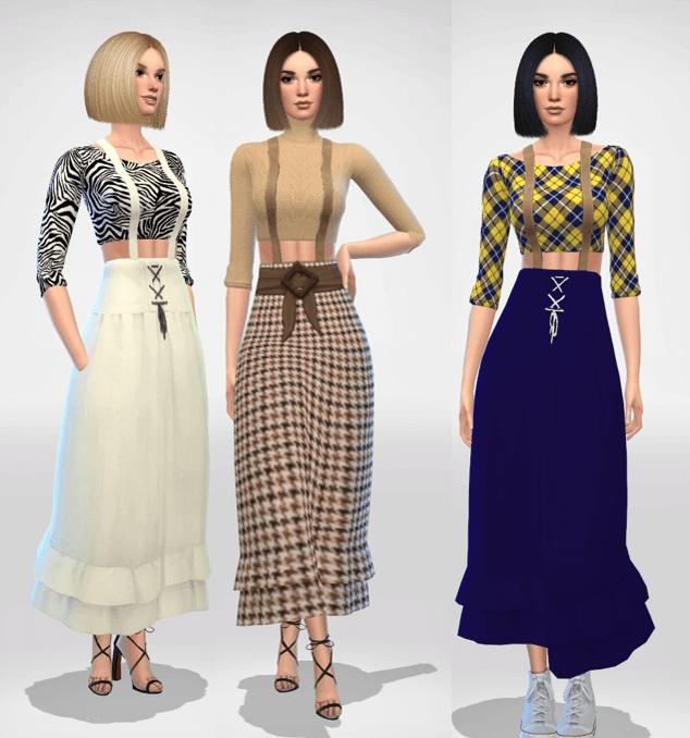 Sims 4 Skirt Overalls