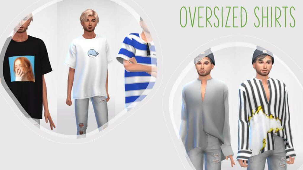 sims 4 oversized shirts
