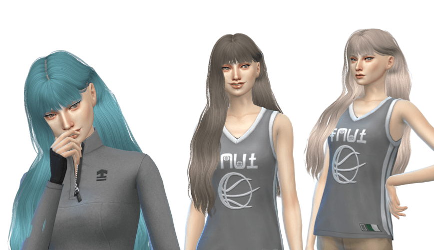 long with bangs sims
