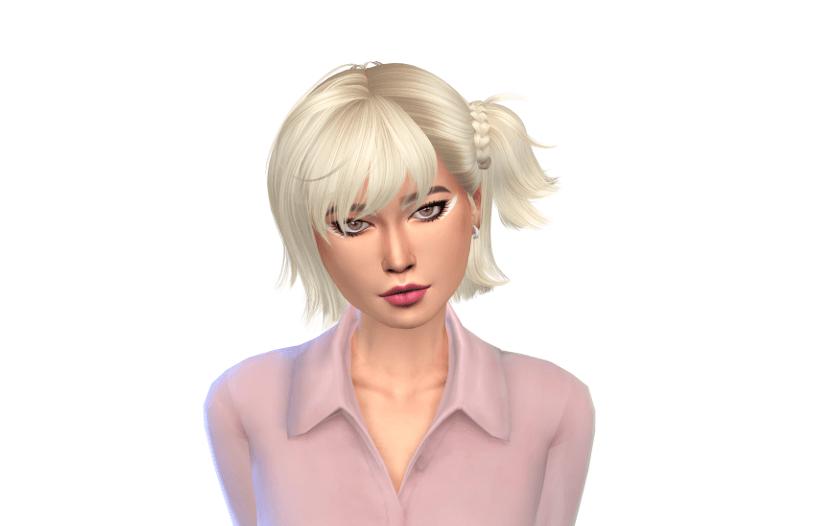 sims short alpha hair