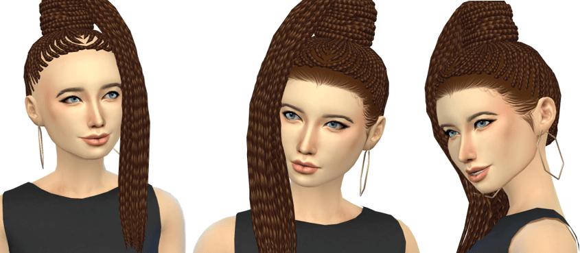 stray hairs sims 4