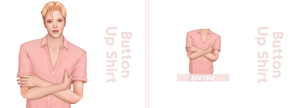 Button up T-shirts Custom content