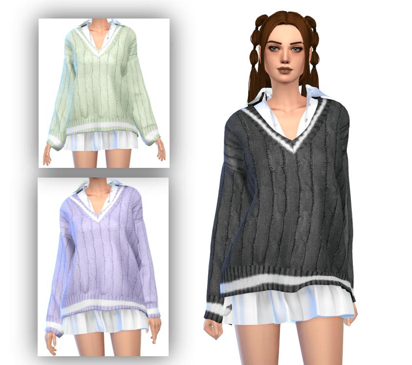 sweater dress custom content